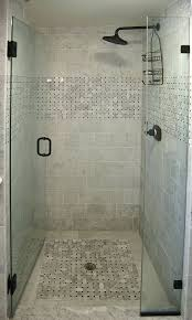 Shower Stalls With Glass Doors Shower Stall Floor Repair Pebble Tile Installation Mosaic Ideas