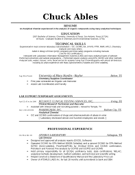 Laboratory Skills Resume Quality Control Supervisor Resume Essay On Garibi Music Teacher