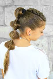 stacked bubble braid cute girls hairstyles
