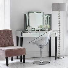 vanity chairs for bedroom clear acrylic makeup vanity chair with chrome base modern bedroom