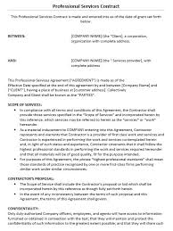 professional services agreement template nec3 professional