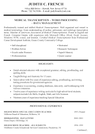 Job Skills Examples For Resume by Primary High Teacher Resume Http Www Resumecareer Info