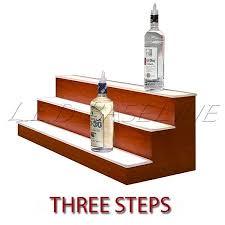 led lighted bar shelves led lighted bar shelf three steps liquor display shelving bar