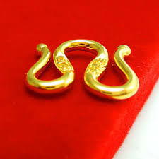 gold necklace clasps images Authentic 9k yellow gold necklace clasp craved m w shape necklace jpg