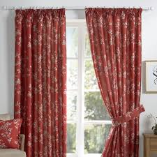 magnificent red curtains living room livingoom beautiful curtain