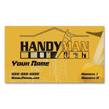 handy man business card it is places and the o jays letterhead