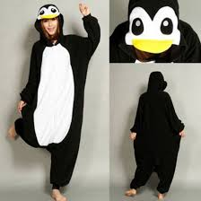 Penguin Halloween Costumes Pajamas Penguin Black White Onesie Halloween Costume