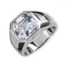 men ring rhodium asscher cut men s ring timepieces international