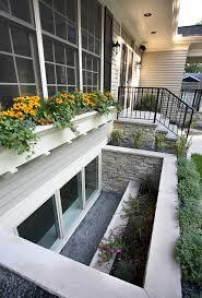 basement window wells basement contemporary with accent lighting