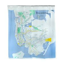 New York Mta Map Nyc Subway Shower Curtain Replica Of The Mta Map On Heavy Duty