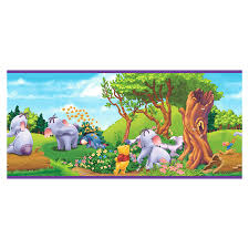 shop imperial winnie pooh heffalump wallpaper border lowes