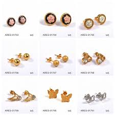 gold earrings tops 18k gold jewelry ear cuff new products tops design