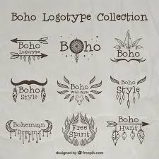 boho logos with ornaments free vectors ui