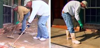 How To Clean Colored Concrete Patio Staining Concrete Surfaces Today U0027s Homeowner