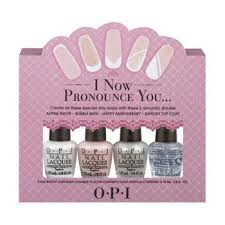 opi wedding colors opi mini 4 pack i now pronounce you wedding collection 2013