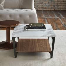 marble wood coffee table soho square marble wood coffee table
