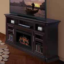 Dimplex Electric Fireplace Decorating Chic Black Dimplex Electric Fireplaces On Sandy Brown
