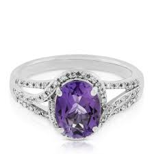 compare prices on amethyst engagement oval amethyst u0026 white sapphire ring 14k ben bridge jeweler