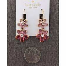 pink drop earrings 55 kate spade jewelry nwt kate spade ombre bouquet pink