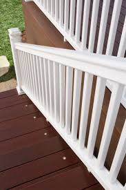 outdoor cozy fiberon railing for your deck design ideas