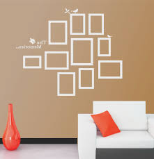 living room creative wall stickers in living room home design