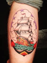 traditional sailing ship and anchor nautical best