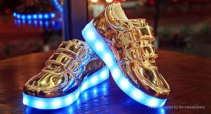 light up shoes gold high top 27 49 kids led light up slip on luminous shoes sneakers size 33