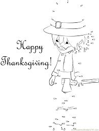 best happy thanksgiving day dot to dot printable worksheet