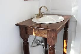 DIY Farmhouse Bathroom Vanities Thewhitebuffalostylingcocom - Bathroom vanity tables