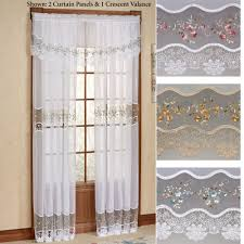Embroidered Curtain Panels Sheer Curtains U0026 Window Treatments Touch Of Class