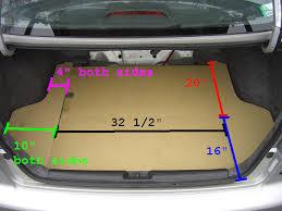 2005 honda civic trunk diy custom trunk ii with access to spare tire honda civic
