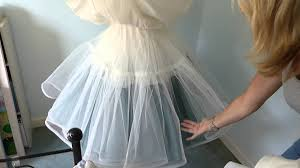 how to make an underskirt for a wedding dress youtube