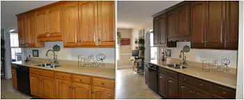 oak kitchen cabinet finishes oak cabinet makeover with general finishes antique walnut