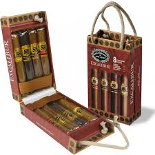 cigar gift set excalibur 2 sler collection 8 cigar gift set