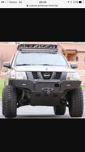nissan frontier halo headlights just buy a tube bumper and fill it in with diamond plate