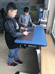 Student Desk In French kinesthetic desks kick start new approach to learning the