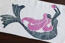Seashell Bathroom Rugs Bath Rug Bath Mat Mermaid Pink Hair Seashell Cotton