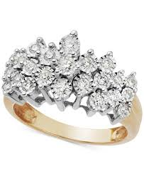 crown diamond rings images Diamond crown ring in 10k gold 1 2 ct t w rings jewelry tif
