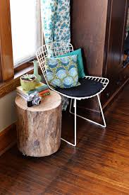 Bedside Table Ideas by Diy Tree Stump Side Table Accents Furniture And Ikea Design