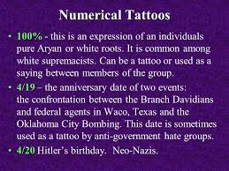unauthorized and or inappropriate tattoos and symbols ppt video