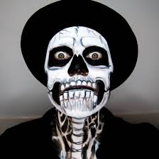 Skeleton Face Paint For Halloween by Face Of The Day Skeleton Makeup U2039 The Dress Up Box