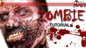 zombie halloween makeup tutorial walking dead makeup youtube