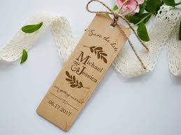 wedding bookmarks wooden save the date bookmark wood wedding