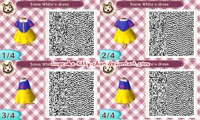 animal crossing new leaf qr codes hair qr code snow white s dress by sugary stardust on deviantart