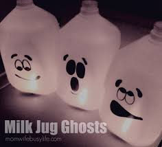 milk jug halloween crafts milk jug ghosts halloween craft mom wife busy life