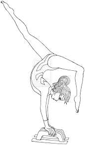 gymnastics coloring pages chuckbutt com
