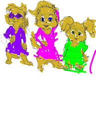 chipettes posing photo coloring download u0026 print