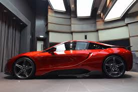 bmw i8 this custom lava red bmw i8 is dripping