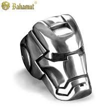 the marvels wedding band bahamut heroes iron mask titanium steel ring tony stark