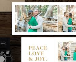 christmas card templates for photographers 5x5 trifold